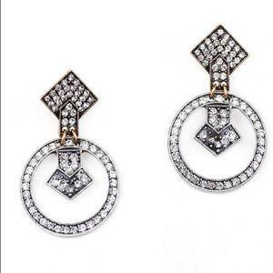 Brand new lulu frost crystal statement earrings